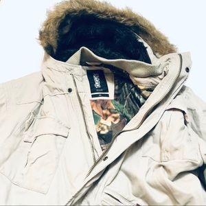 Billabong Twill Work Coat with Hood Men's XL